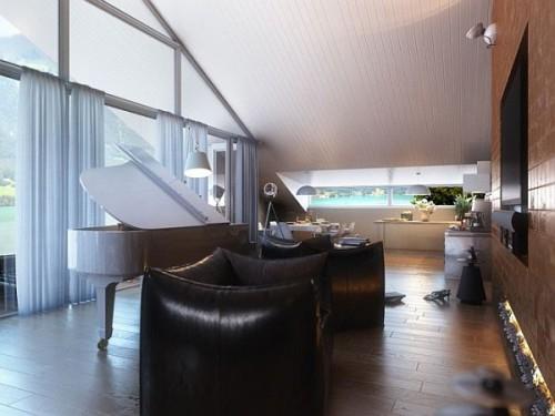 дизайн интерьера загородного дома   (10)