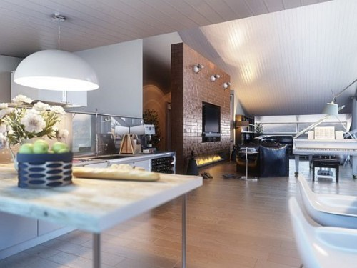 дизайн интерьера загородного дома   (9)