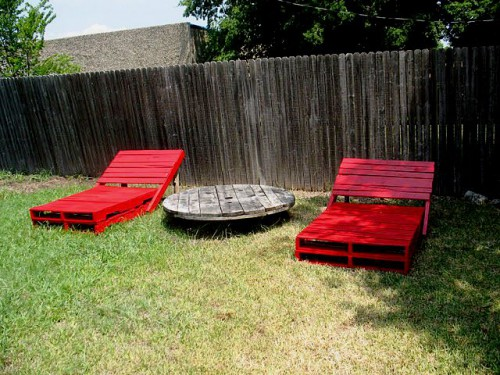 Деревянная садовая мебель - лежак своими руками (1)
