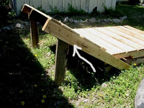 Деревянная садовая мебель - лежак своими руками (3)