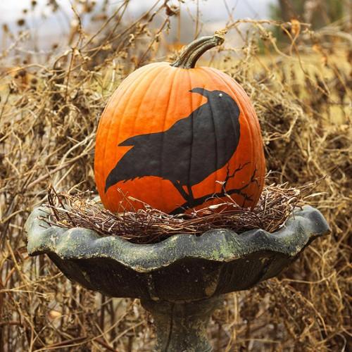 Украшение на Хэллоуин - что сделать из тыквы (10)