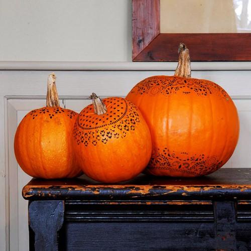 Украшение на Хэллоуин - что сделать из тыквы (7)