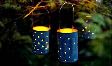 Подвесные жестяные светильники