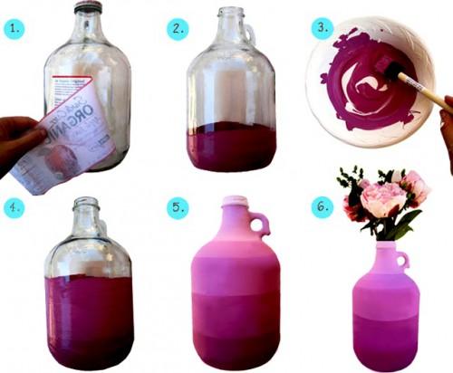 Декор дома своими руками - ваза из бутылки своими руками (1)