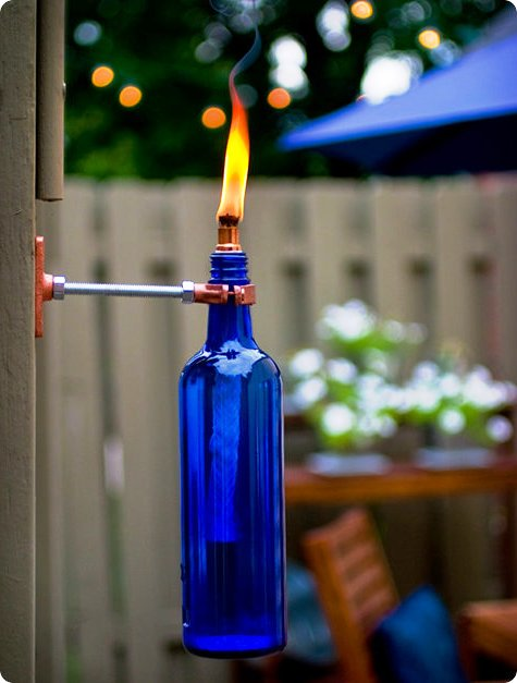 Светильник своими руками - освещение на даче (1)
