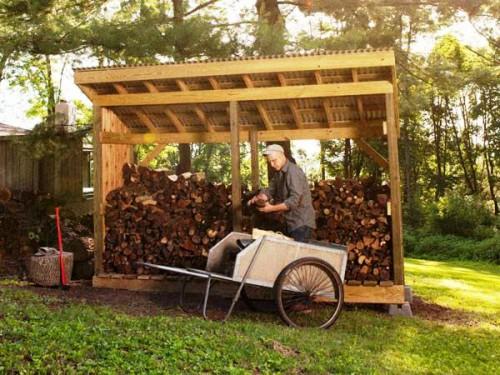 Навес для дров своими руками - как самому сделать навес (1)
