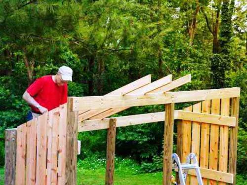Навес для дров своими руками - как самому сделать навес (10)