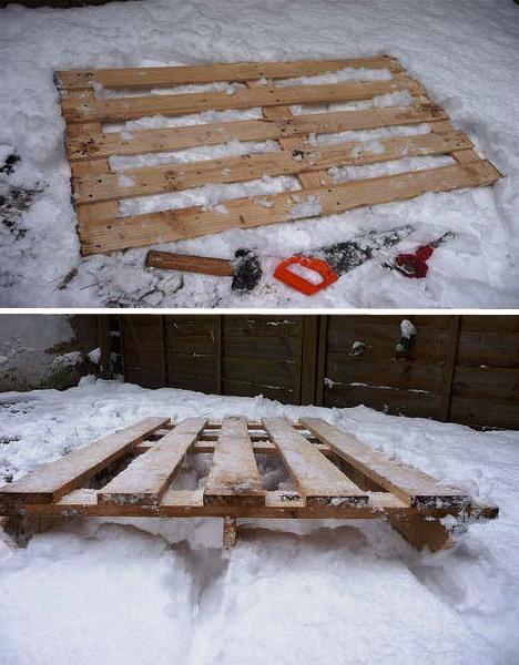 Мебель для дачи своими руками - поделки из поддонов (4)
