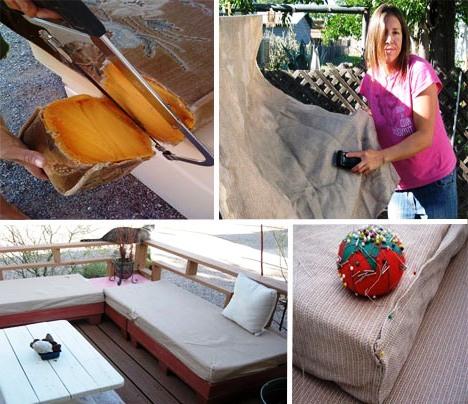 Мебель для дачи своими руками - поделки из поддонов (7)