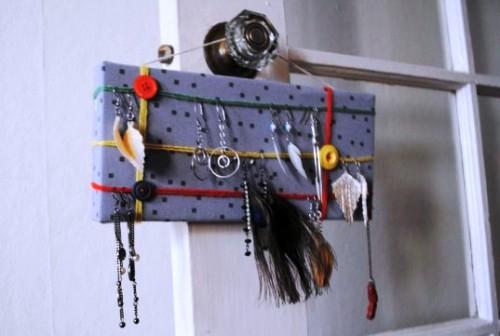 Подставка для сережек - держатель своими руками (10)