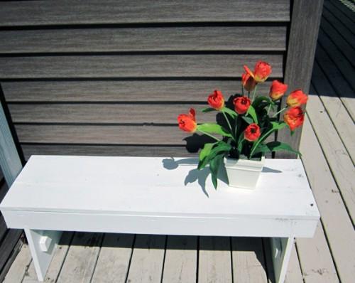 Скамейка своими руками - скамейка для дачи (13)