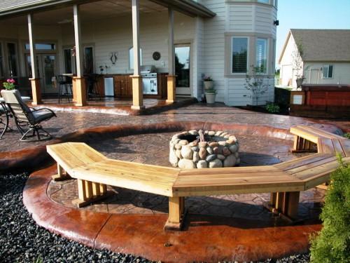 Дизайн дворика - сделать патио (10)