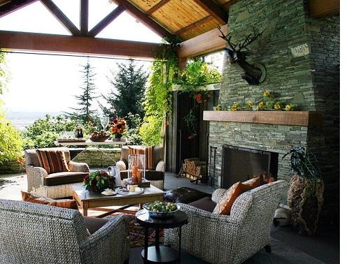 Дизайн дворика - сделать патио (14)