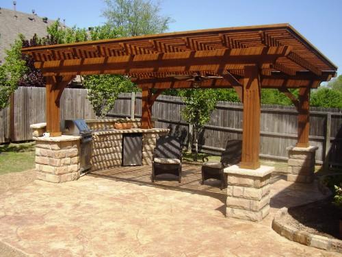Дизайн дворика - сделать патио (15)