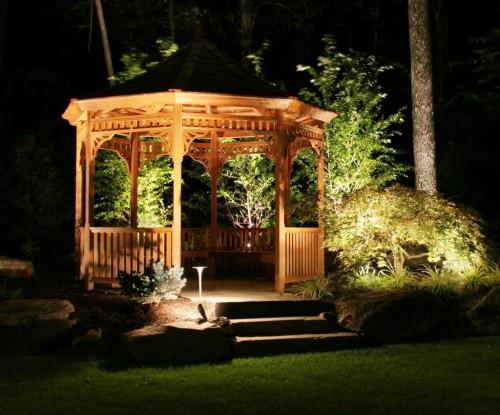 Как сделать освещение - в саду - фото (4)