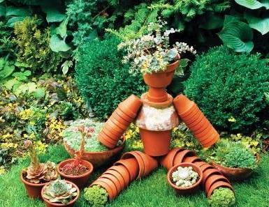 Поделки из цветочных горшков - как использовать ненужные вещи (15)