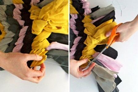 Как сделать коврик своими руками (5)