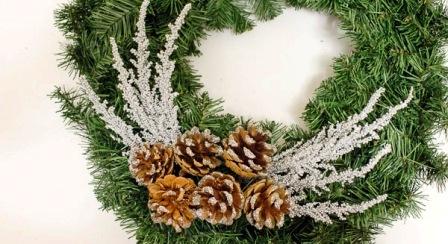 Как сделать новогодний венок (4)