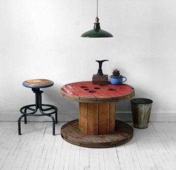 Мебель из кабельных барабанов (1)