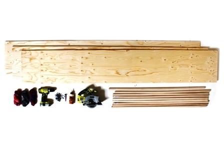Как сделать скамейку из дерева (1)
