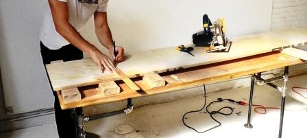 Как сделать скамейку из дерева (2)