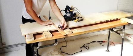 Как сделать скамейку из дерева (4)