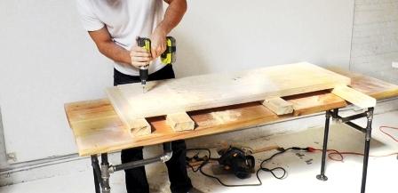 Как сделать скамейку из дерева (6)