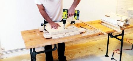 Как сделать скамейку из дерева (8)