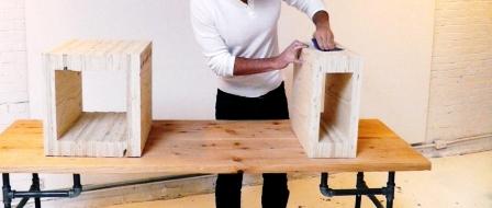 Как сделать скамейку из дерева (9)