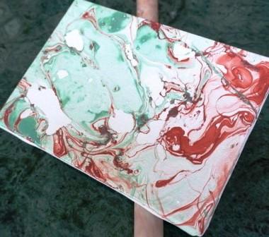 Картина под мрамор своими руками (8)