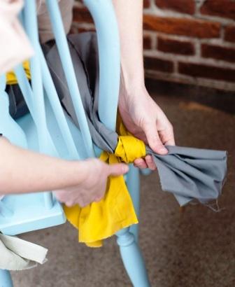 Как связать коврик на стул (19)