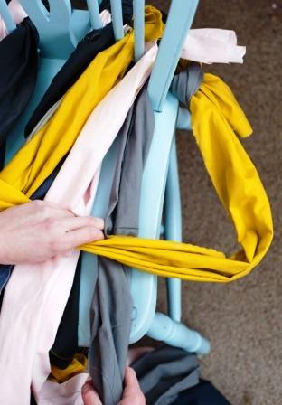 Как связать коврик на стул (17)