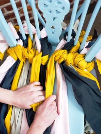 Как связать коврик на стул (10)