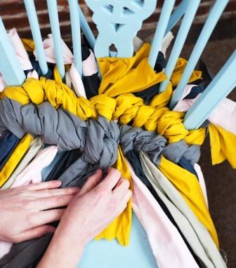Как связать коврик на стул (6)