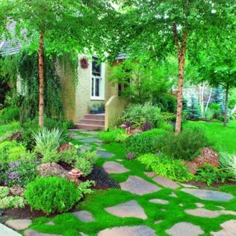 дорожки в саду из булыжников