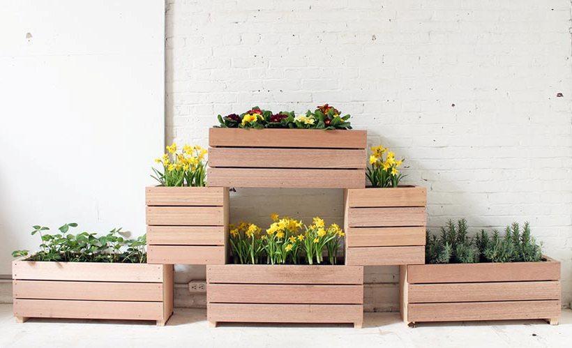 деревянные кашпо для цветов своими руками фото меньше помещение, тем