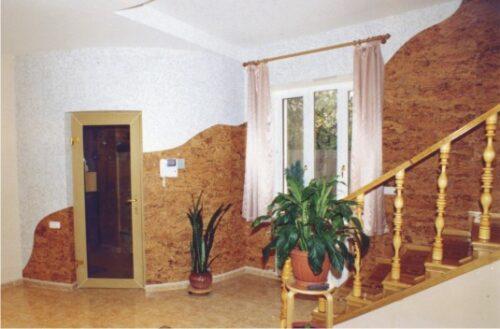 Декор пробковыми панелями